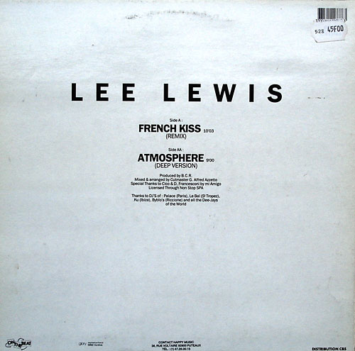 Lee Lewis - French Kiss Remix